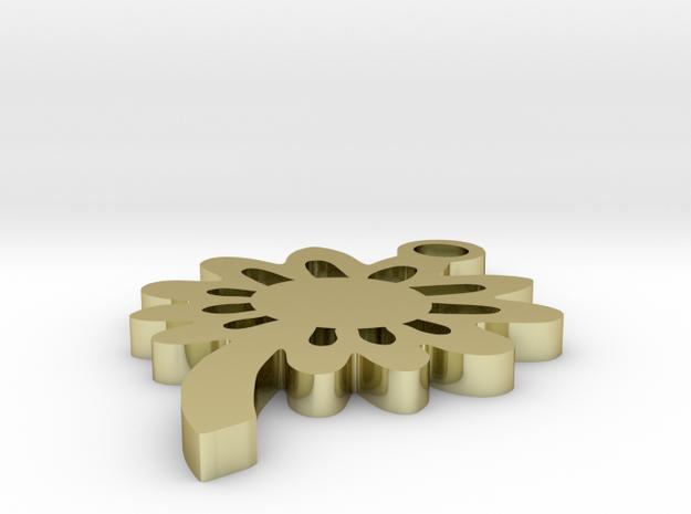 Sun Flower tribal 1.5 inch pendant 3d printed
