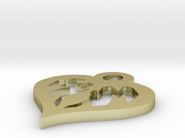 Mom Love Heart 1.5 Inch Pendant 3d printed