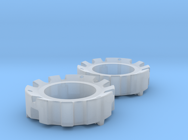 1/64 Wheel Weights Outer (2 Pieces) in Smooth Fine Detail Plastic