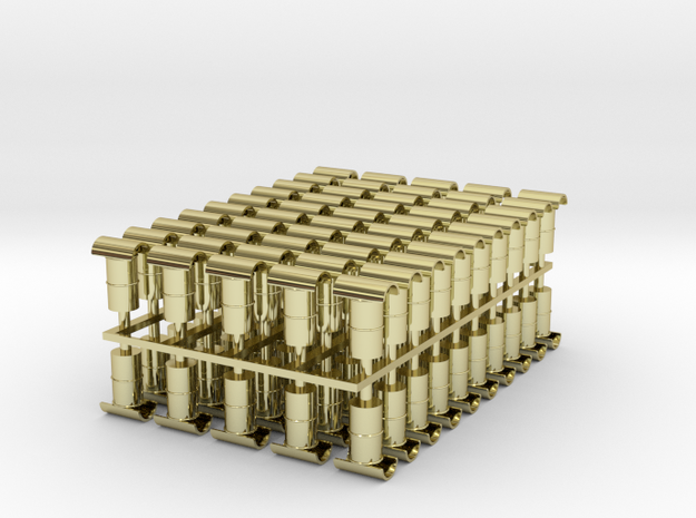 100 Chimney Pots 4mm Scale 'Hooded Howitzers' 3d printed