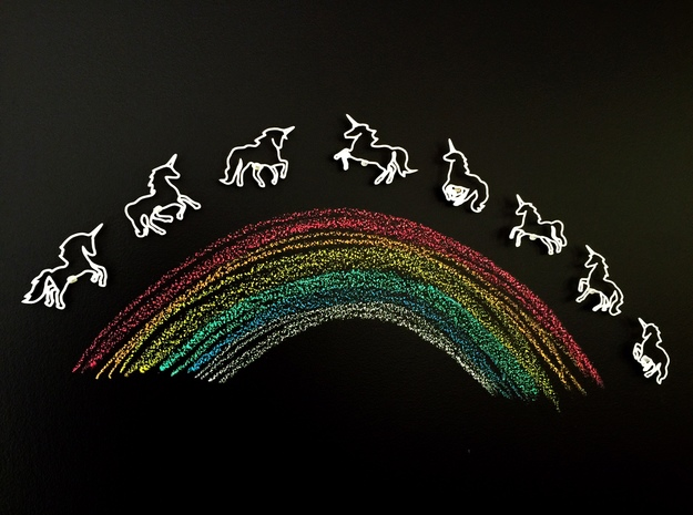 Unicorns: Wire Wall Art 3d printed