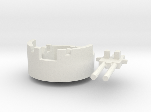 Anit-aircraft #1 (n-scale) in White Natural Versatile Plastic