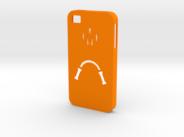Mikey Case (iPhone 4S) in Orange Strong & Flexible Polished