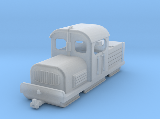 Industrial diesel model shunter H0e/H0n30 in Smooth Fine Detail Plastic