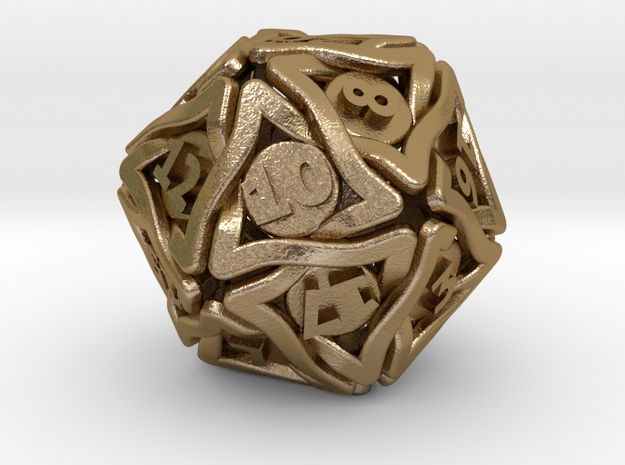 'Twined' Dice D20 Gaming Die (24 mm)