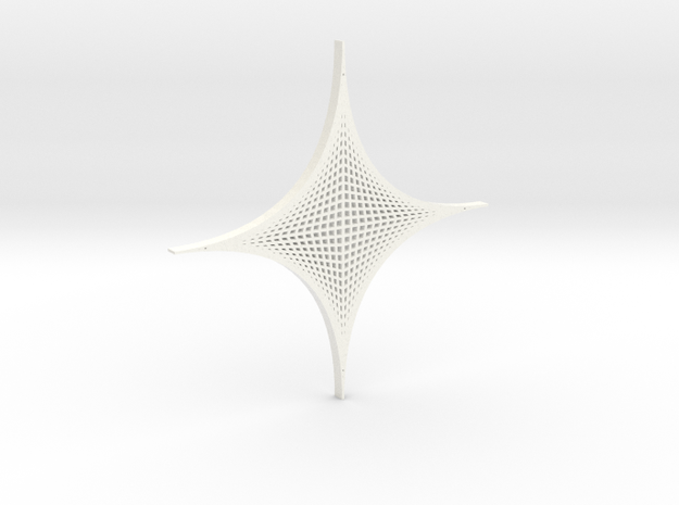 Four Parabolic Curves (Basic) in White Processed Versatile Plastic