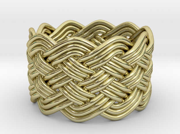 Turk's Head Knot Ring 6 Part X 10 Bight - Size 9.2 3d printed
