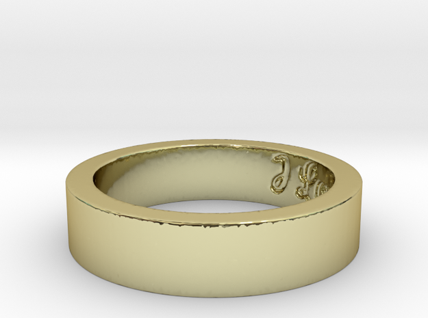 The Love Ring Size 7.5 3d printed