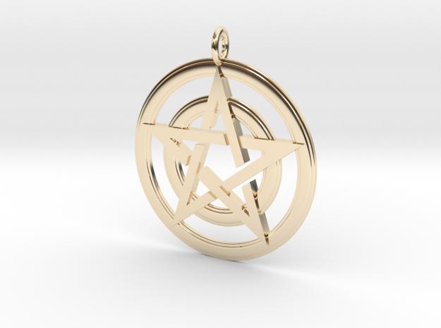 Pentacle Pendant - Circles 3d printed