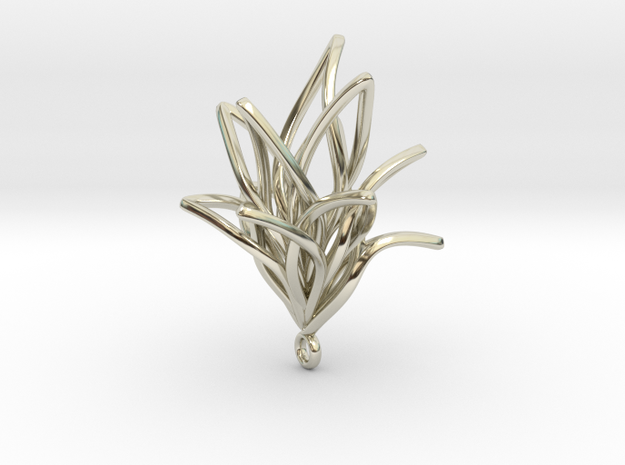 Spiral Flower with loop 3d printed