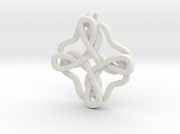 Friendship knot 3d printed In hand 2