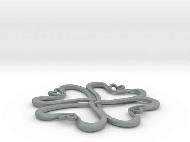 Hearts knot 3d printed
