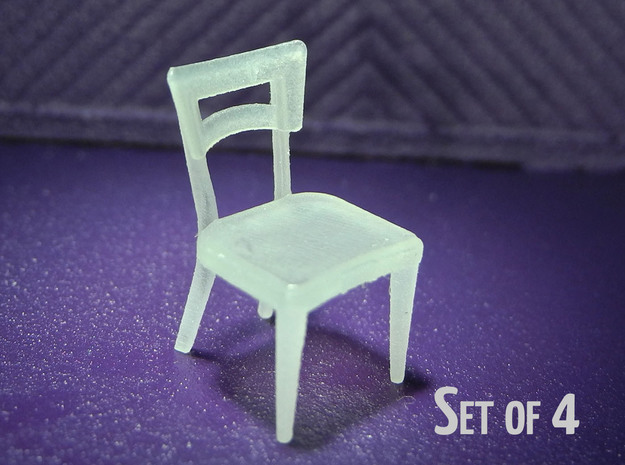 1:48 Dog Bone Chair (Set of 4) 3d printed