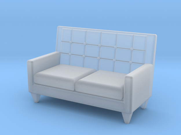 1:48 Sixties Loveseat in Frosted Ultra Detail