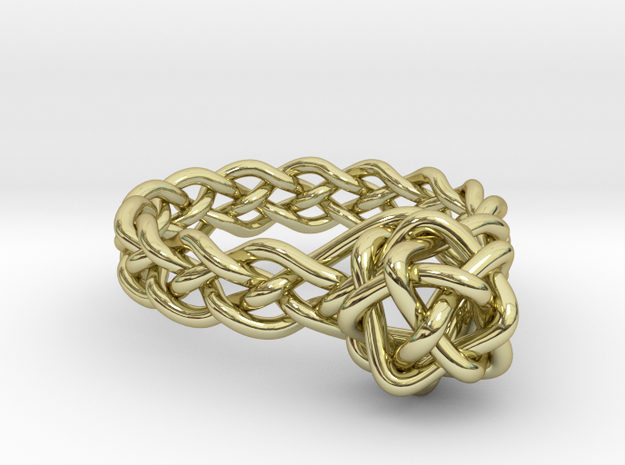 Woven Gem Ring 3d printed