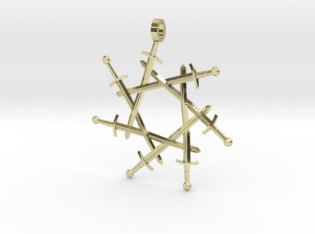 Seven-pointed Swordlock Pendant 3d printed