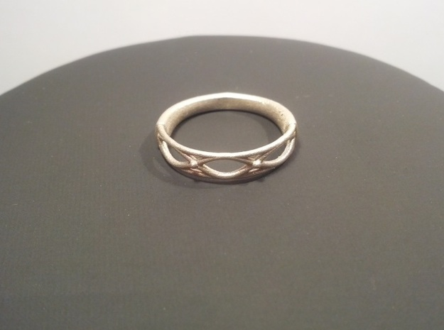 Celtic Weave Ring 2 in Polished Silver