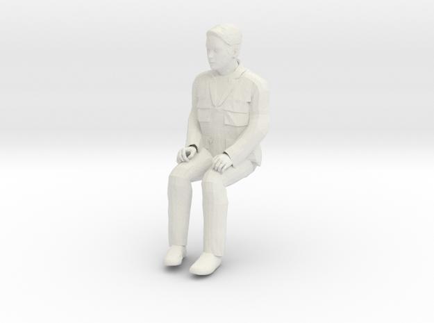 Regular Joe Sitting 1/29 scale in White Natural Versatile Plastic