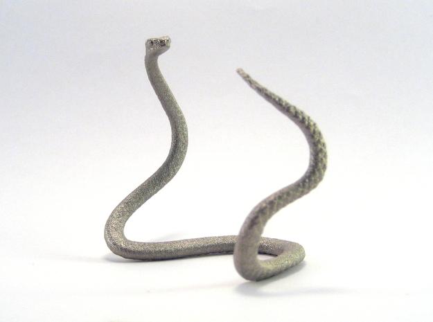 Snake Bangle in Polished Nickel Steel