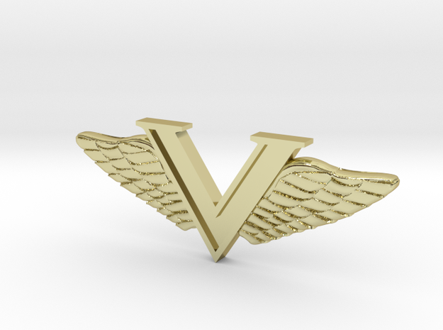 Wings For Val in Polished Bronzed Silver Steel