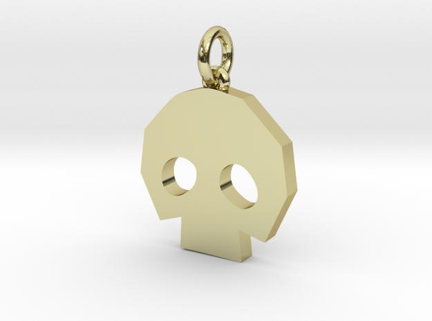 Gold Skulltula token pendant in 18k Gold Plated Brass: Medium