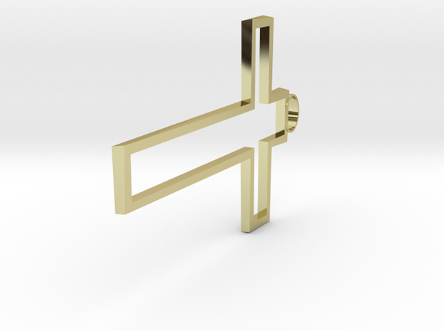Hollow Cross Small 3d printed Gold!