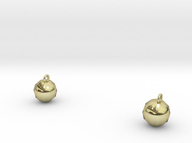 Xmas Ball Earrings 3d printed