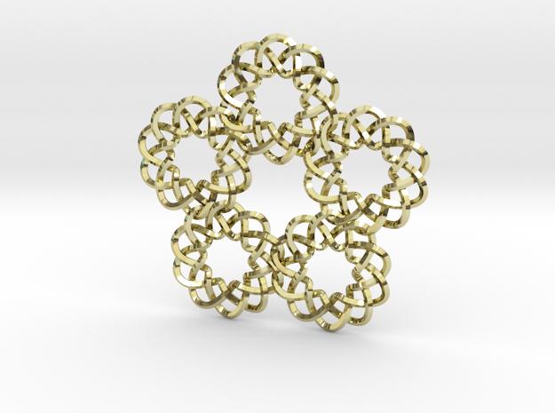 Braided Orbit pendant 3d printed