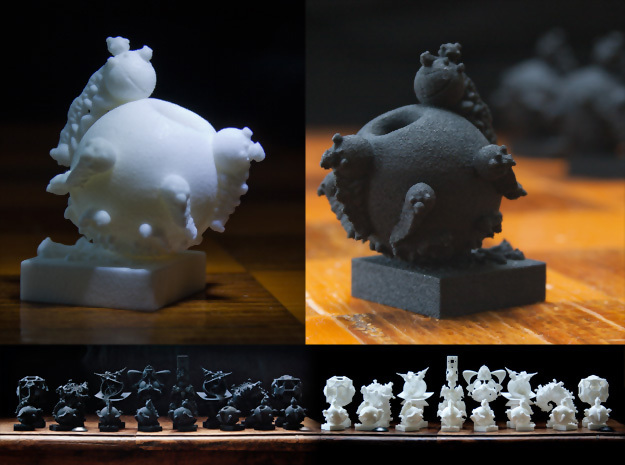 Surreal Chess Set - My Masterpieces - The Pawn in Black Natural Versatile Plastic