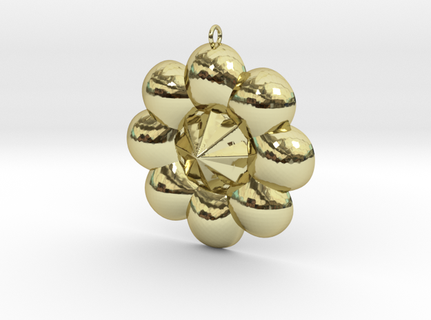 Sun Flower Style Pendant in 18K Gold Plated