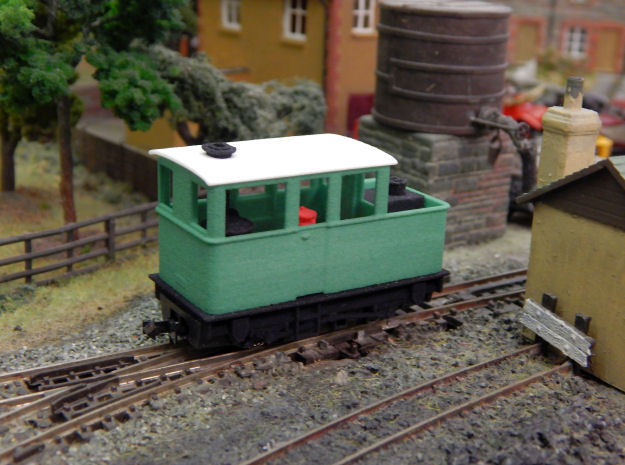 009 Sentinel (Double Window Cab) - Part 4 in Green Processed Versatile Plastic
