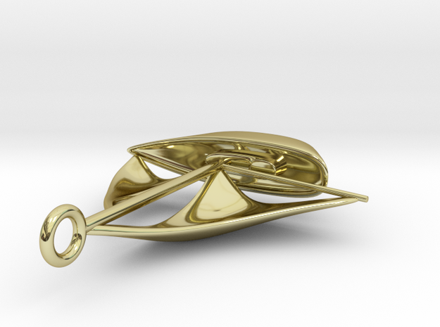 Sailboat pendant 3d printed