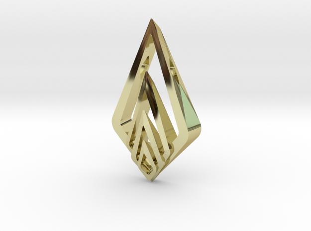 """Hidden Heart"" SHINE, pendant in 18K Gold Plated"
