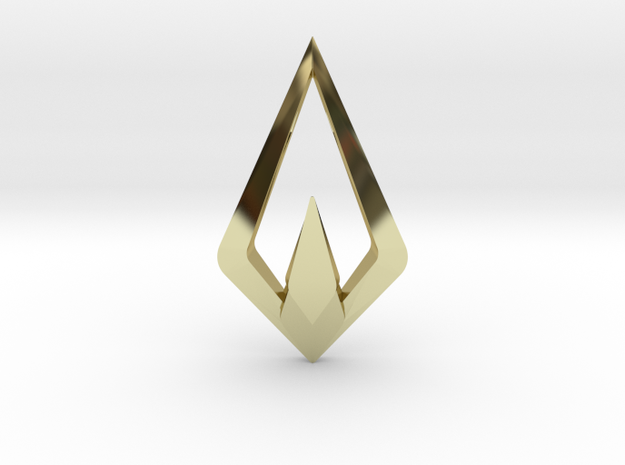 HIDDEN HEART Nimbus, Pendant. Sharp Chic in 18K Gold Plated