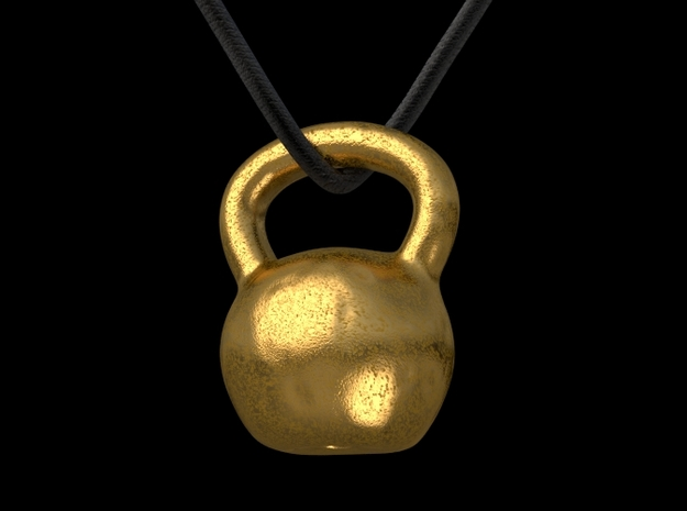 Kettlebell pendant 3d printed This is a 3D render of the model with gold texture