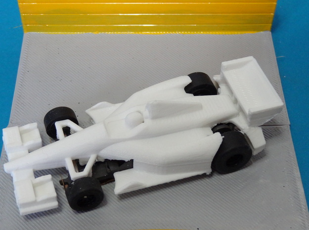 HO 2014 Indy Car Slot Car Body in White Processed Versatile Plastic