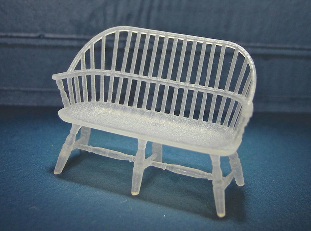 1:48 Windsor Settee in Smooth Fine Detail Plastic