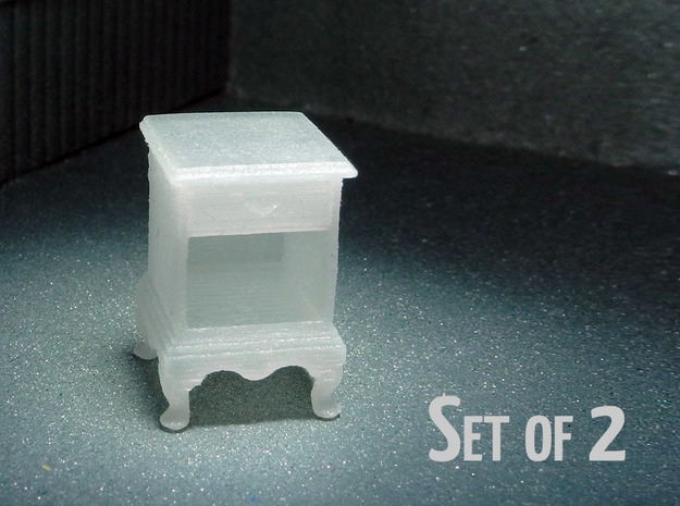 1:48 Queen Anne Nightstand, with shelves