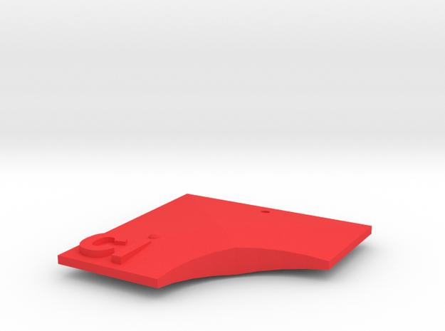 Ci Pendant in Red Processed Versatile Plastic