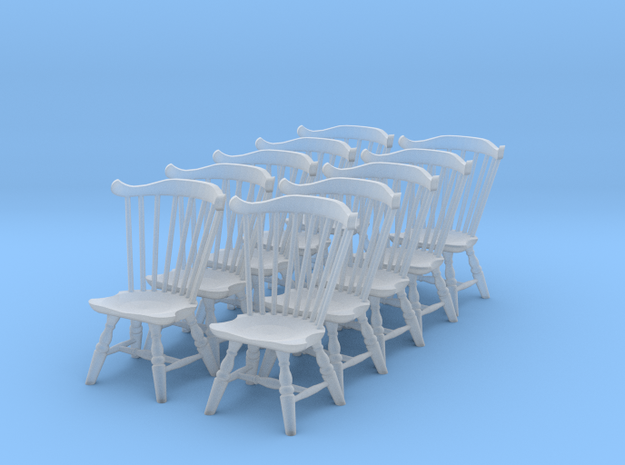 1:48 Fan Back Windsor Chair (Set of 10) 3d printed
