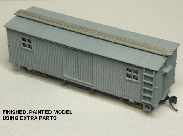 HOn30 25 foot MOW Boxcar type B in White Strong & Flexible