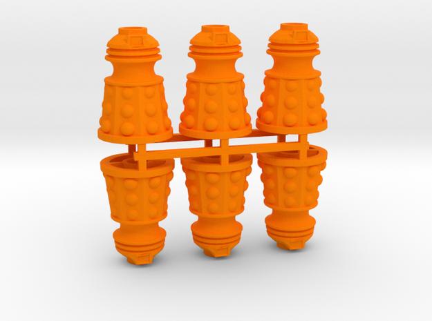 Dalek Post Version B (six pack) in Orange Processed Versatile Plastic