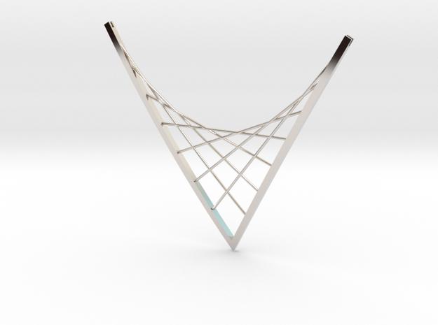 Parabolic Suspension Statement Necklace - Metal