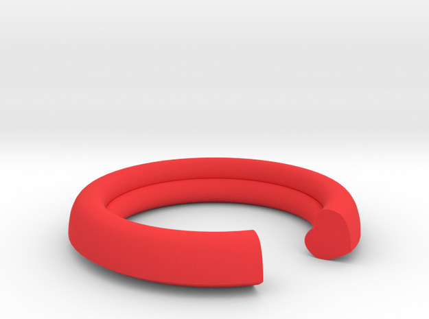 Secret Heart Ring 20 mm x 20 mm in Red Processed Versatile Plastic