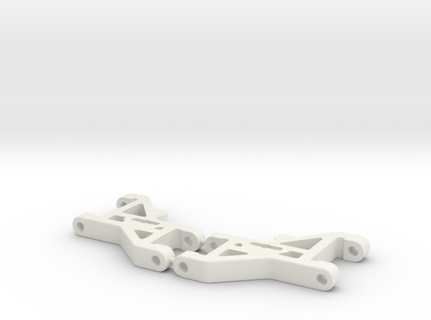 RC10DS Front Arms in White Natural Versatile Plastic