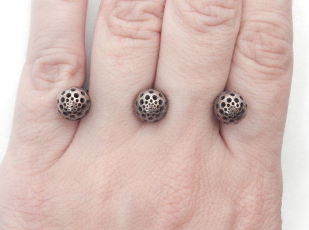 Three Seeds Ring in Stainless Steel
