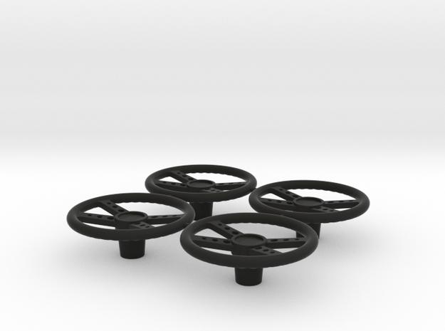 STEERING WHEEL 1/16th in Black Natural Versatile Plastic