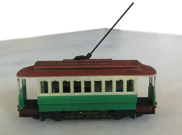Sydney C Class Tram N Scale 1:148 in Smooth Fine Detail Plastic