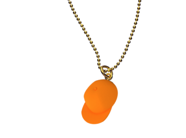 The Caskate Necklace in Orange Strong & Flexible Polished