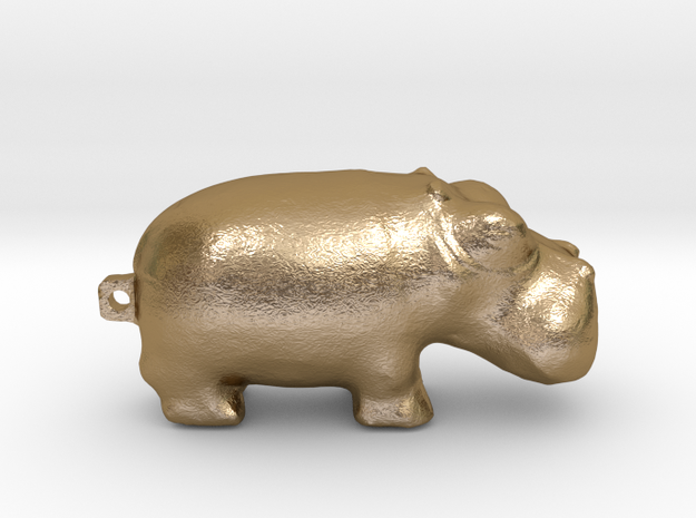 Hippo 3000 BC  in Polished Gold Steel